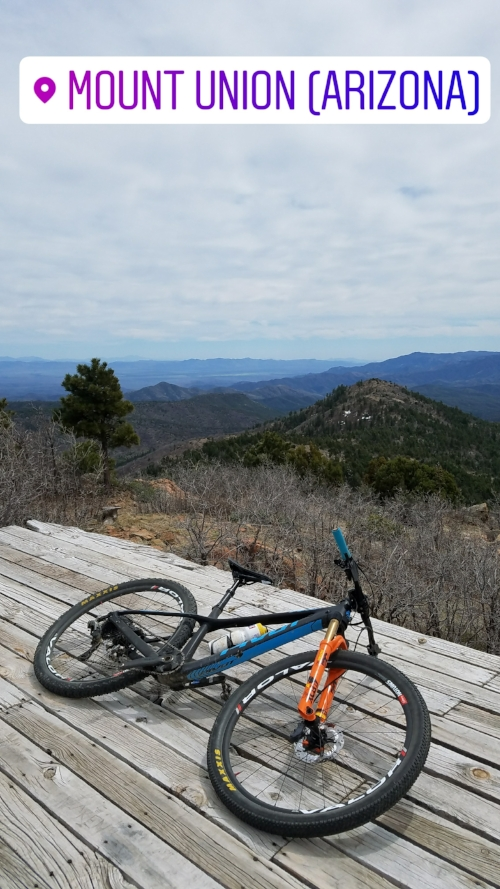 On top of the world! Or at least on top of Yavapai County.