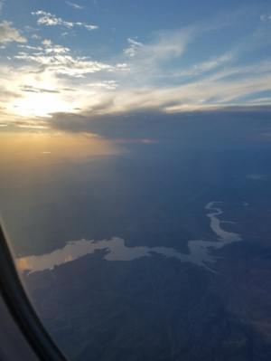 Roosevelt Lake before landing in Phoenix, Ariz.