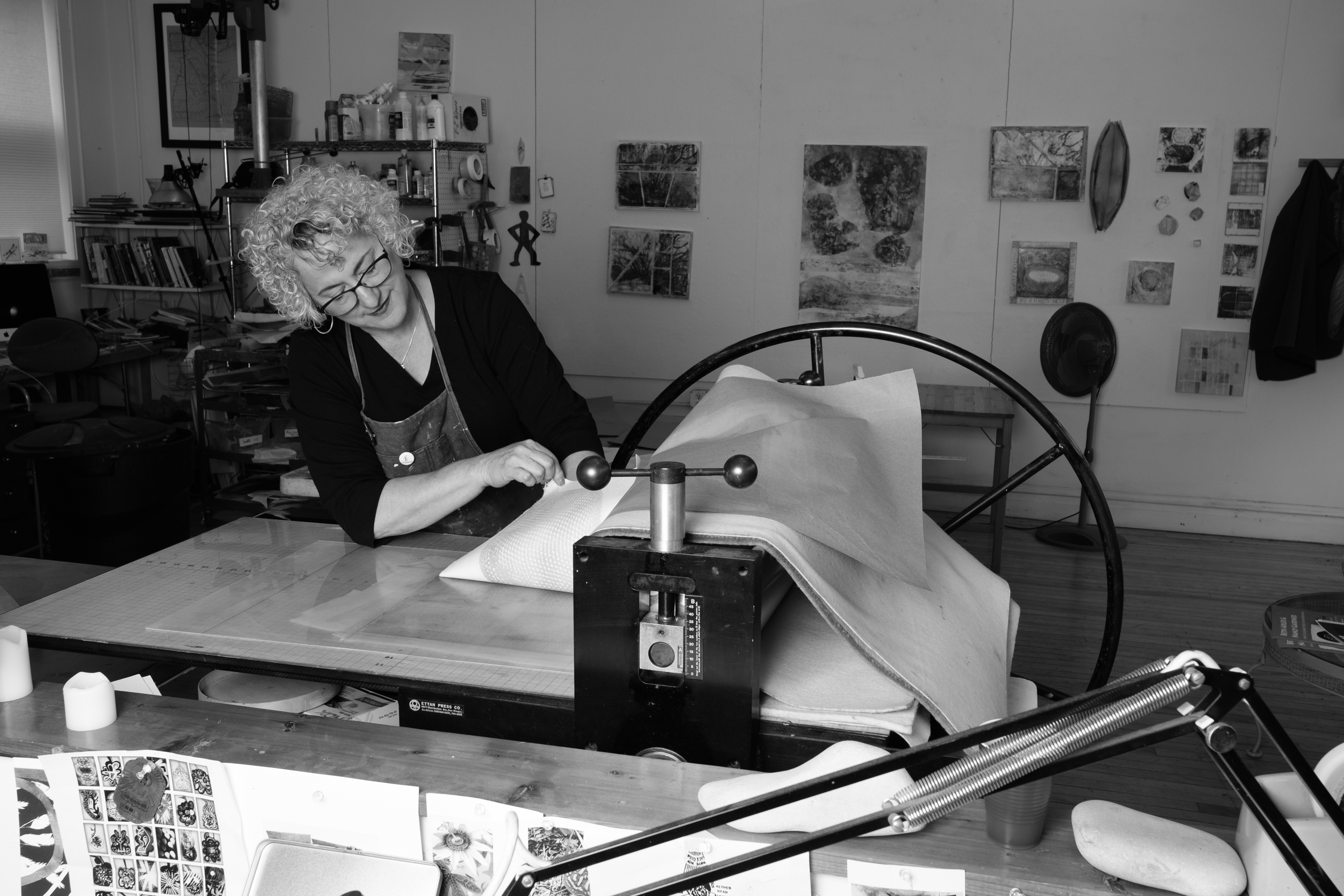 Beth Herman Adler at her press  See more images and read about Beth