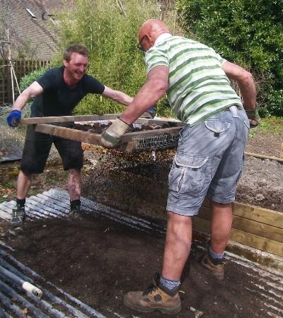 Sieving soil for planting
