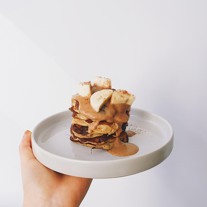 banana pancakes - vegan