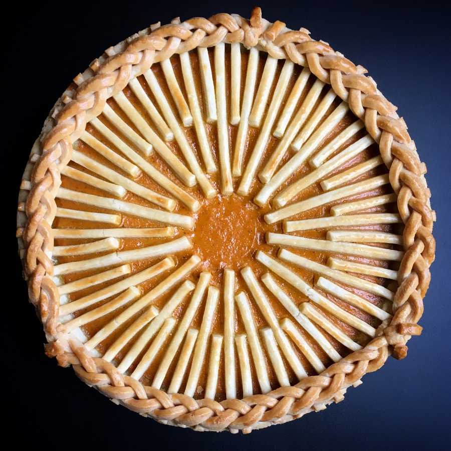 - baked chai masala pumpkin pie