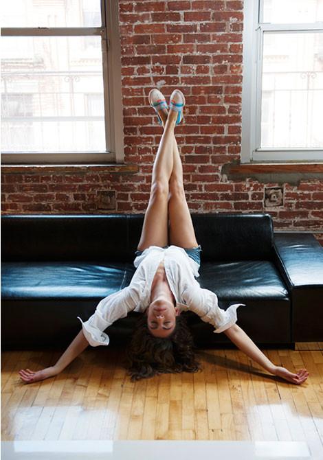 Here's Lauren in her studio getting zen with the espys.