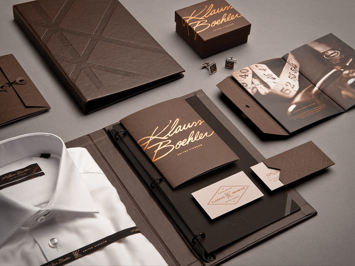 How beautiful is the branding on this men's clothing brand? Photo from Behance.com