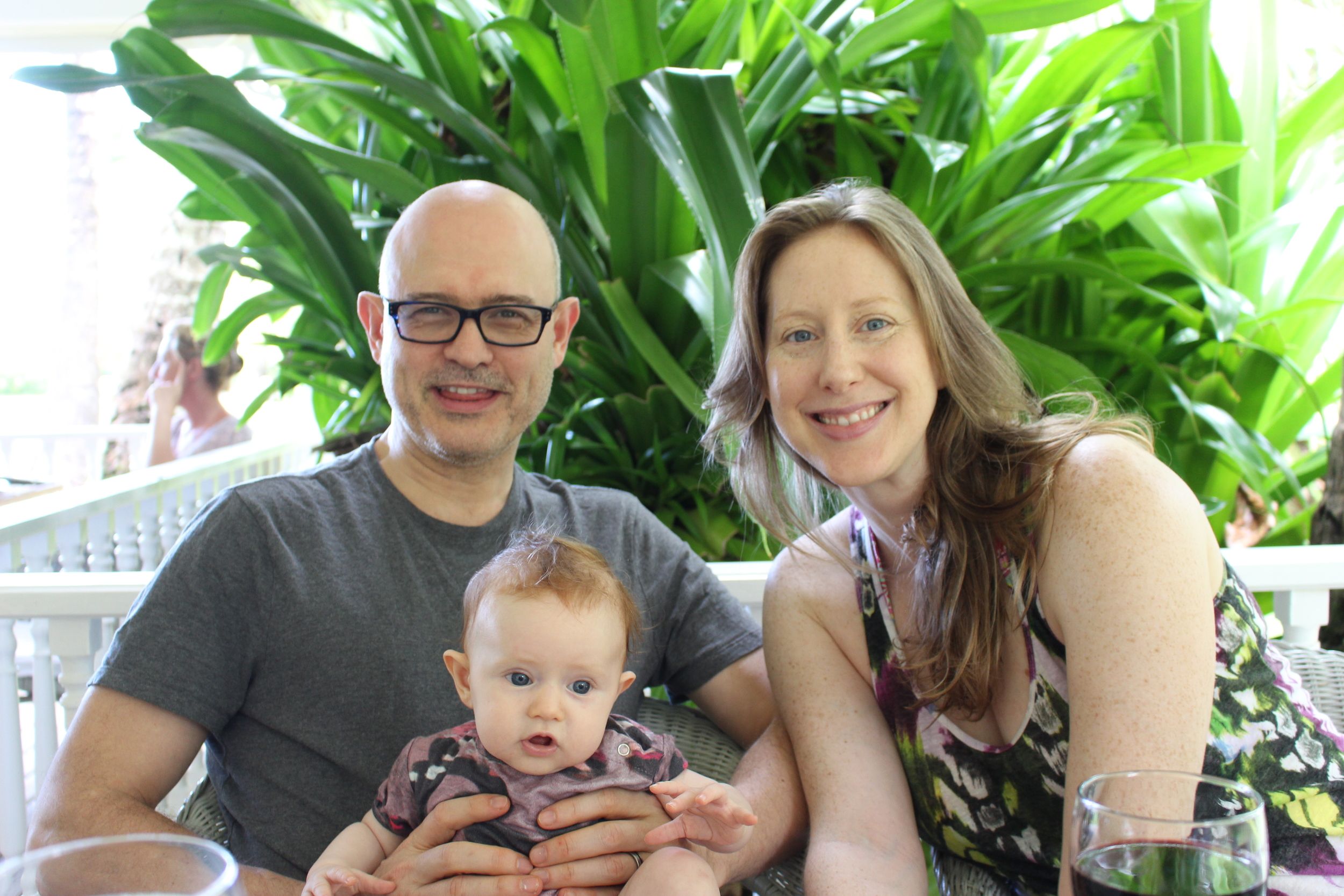 This is us last January in the Dominican. Charlotte is 4 months old here.