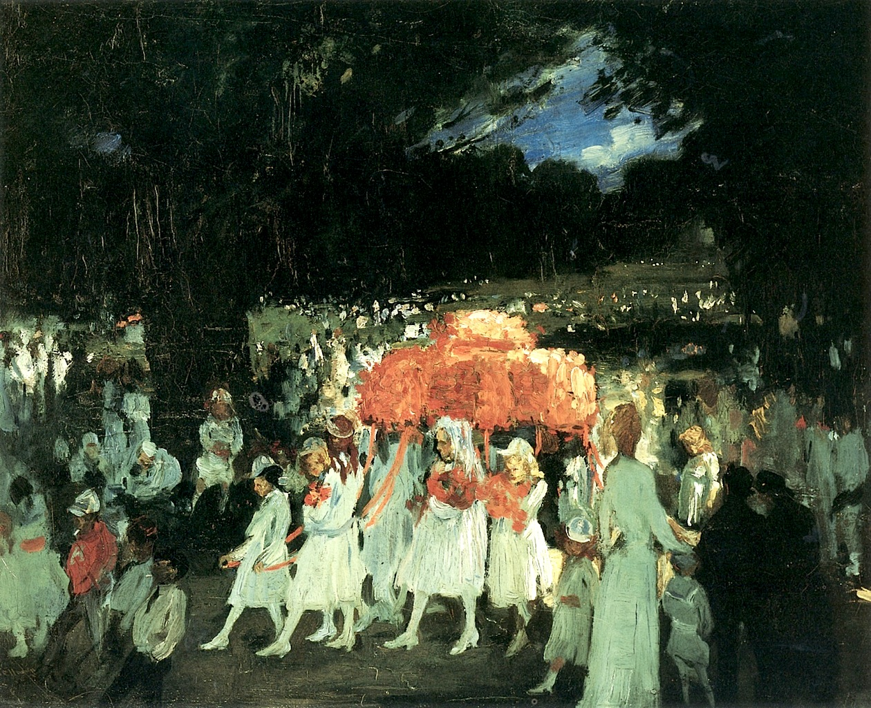May Day in Central Park by  George Wesley Bellows