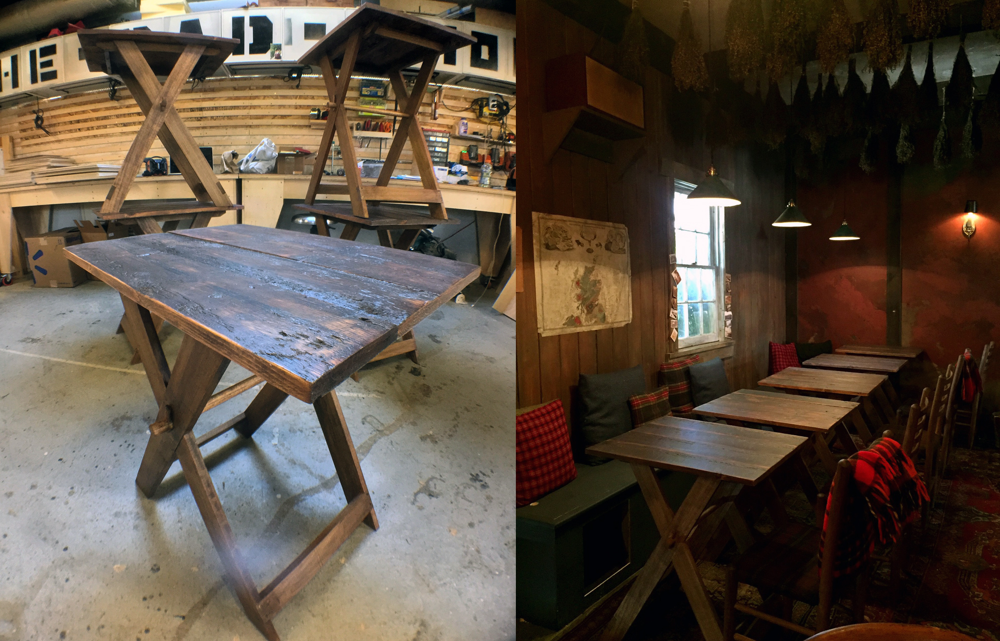 Reclaimed Lodge Tables