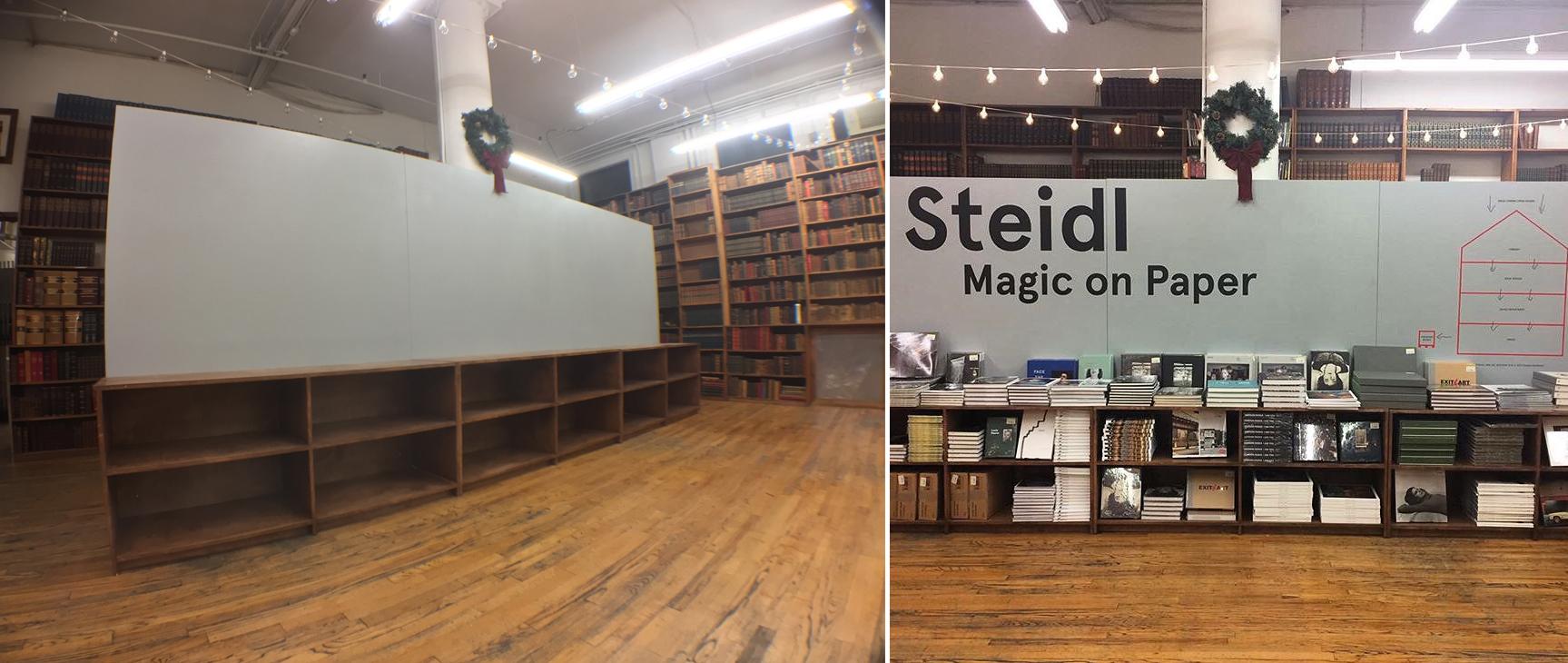 Steidl Pop Up Wall & Display Shelves