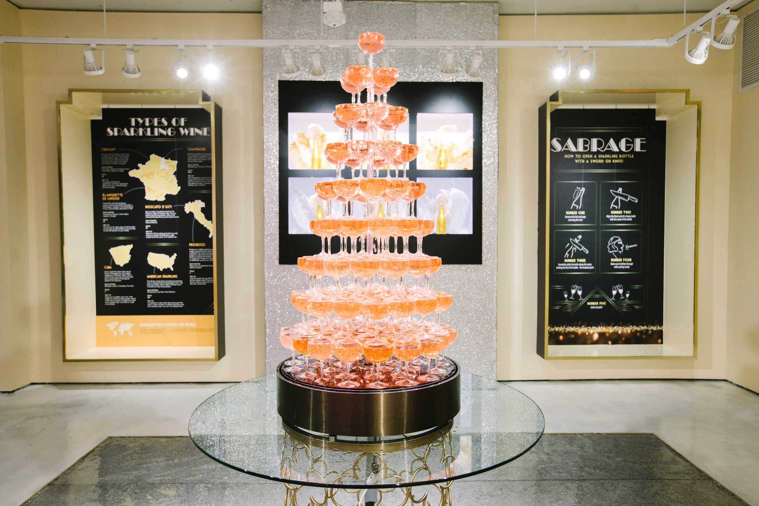 Rosé Tower Fountain
