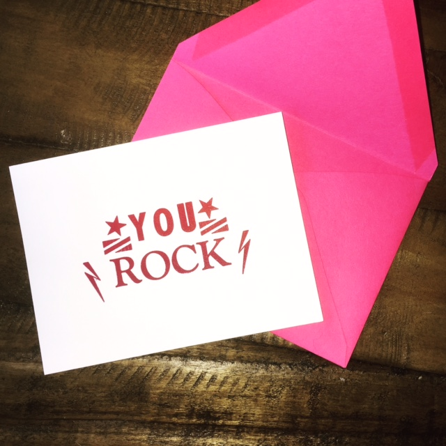 Small and sweet, perfect size for a little note to brighten up a friends day!