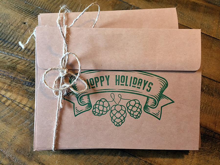 Hoppy Holidays Letterpress Cards!