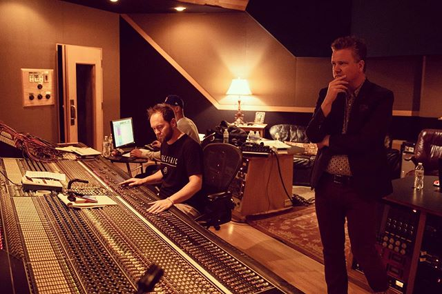 """CAPTION THIS - keith getty behind the scenes @ the live recording - my caption - """"this better not suck, guys"""""""