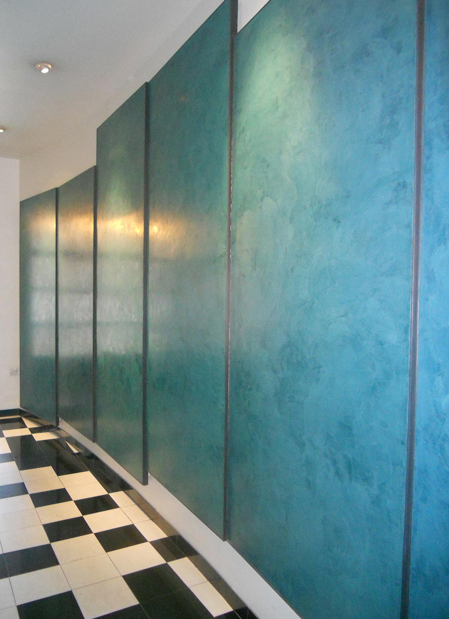 Variegated Blue Venetian Plaster