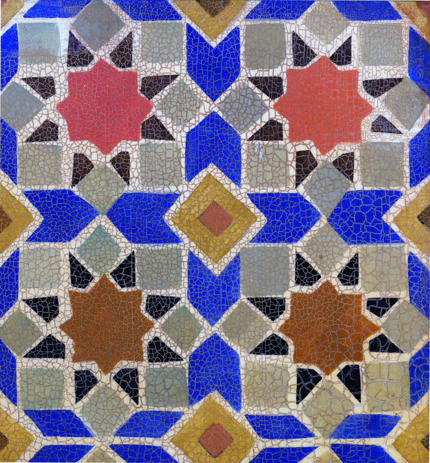 Faux Moroccan Tile with Cracklure