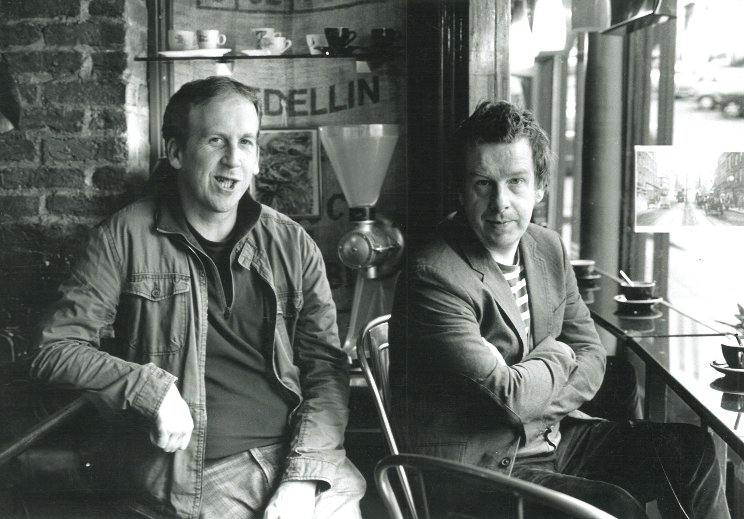 Declan Meade and Kevin Barry. Photo by John Minihan.