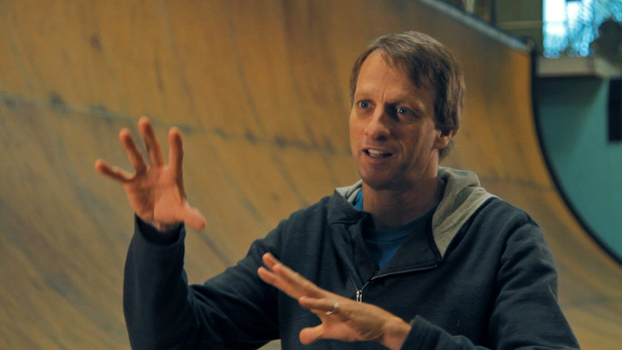 Tony Hawk being interviewed for Hill Street.