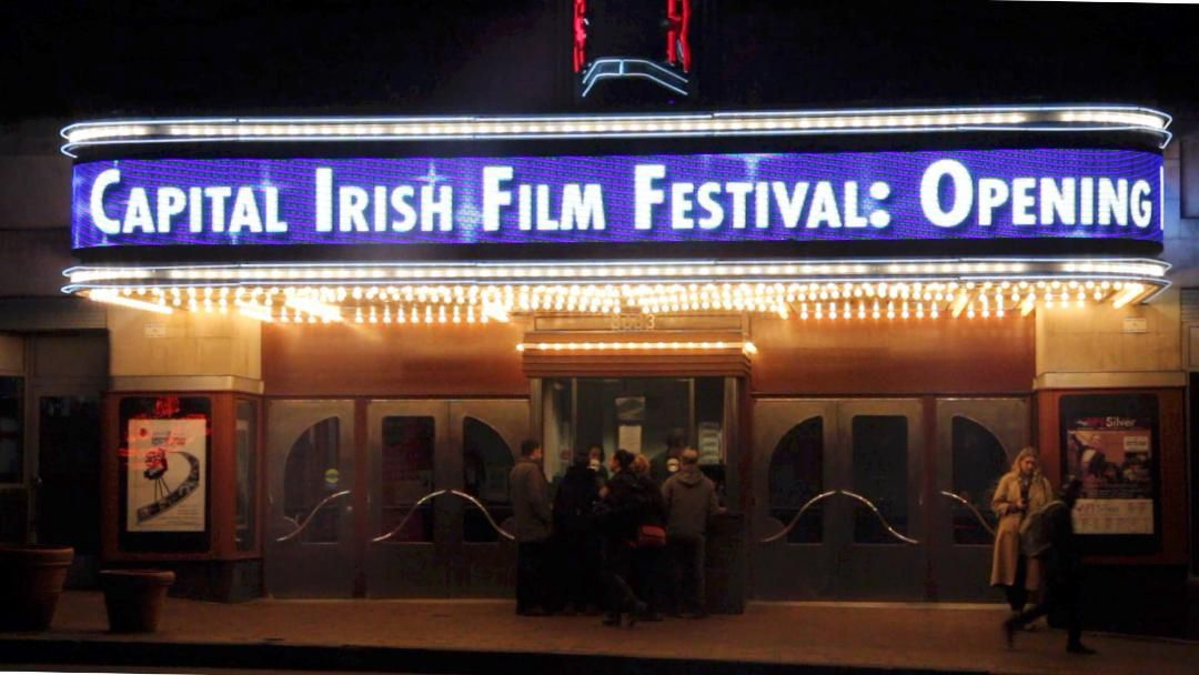 The American Film Institute Marquee used by the Capital Irish Film Festival.