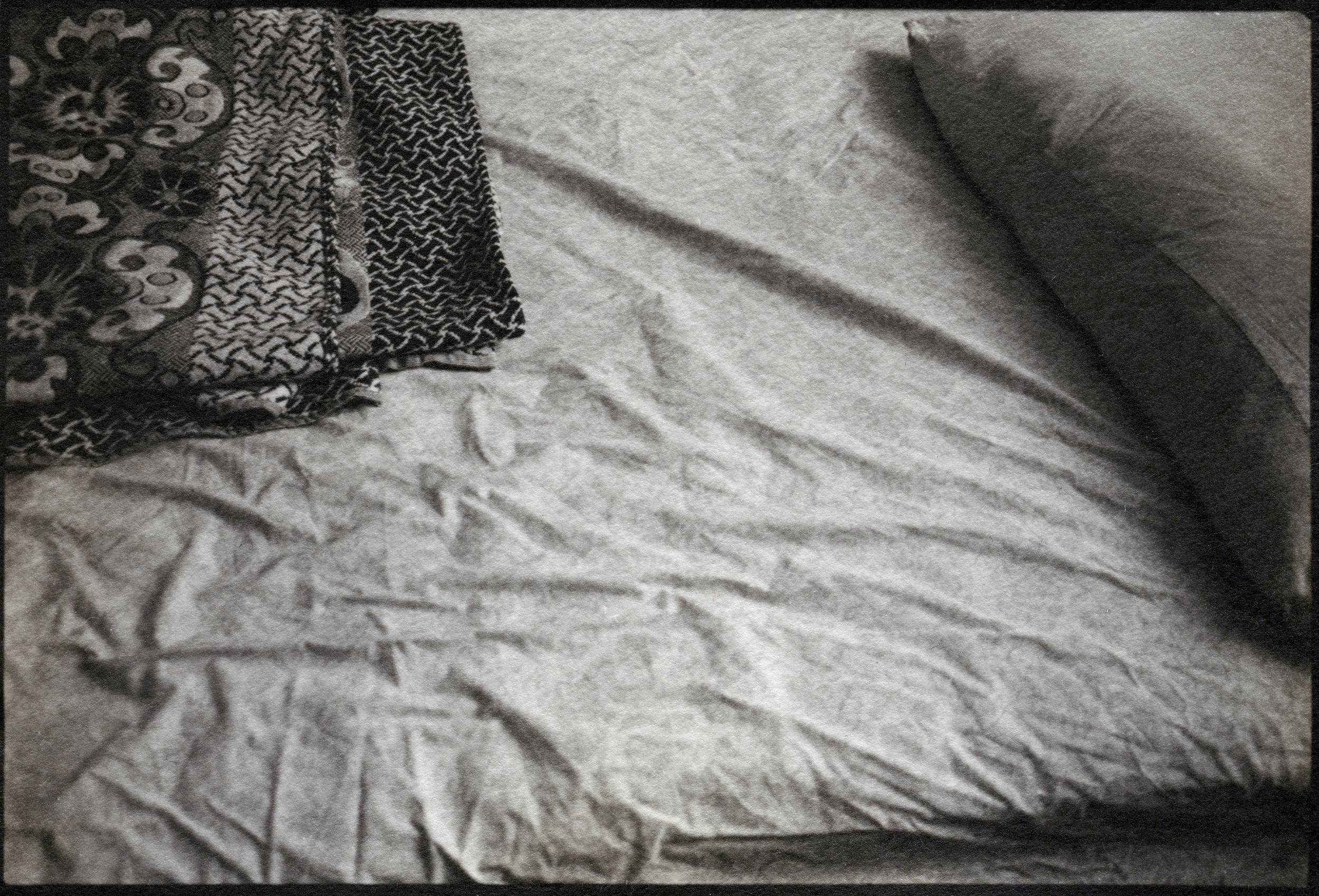 Temporary Bed    Silver Gelatin Print, Switzerland, 2014
