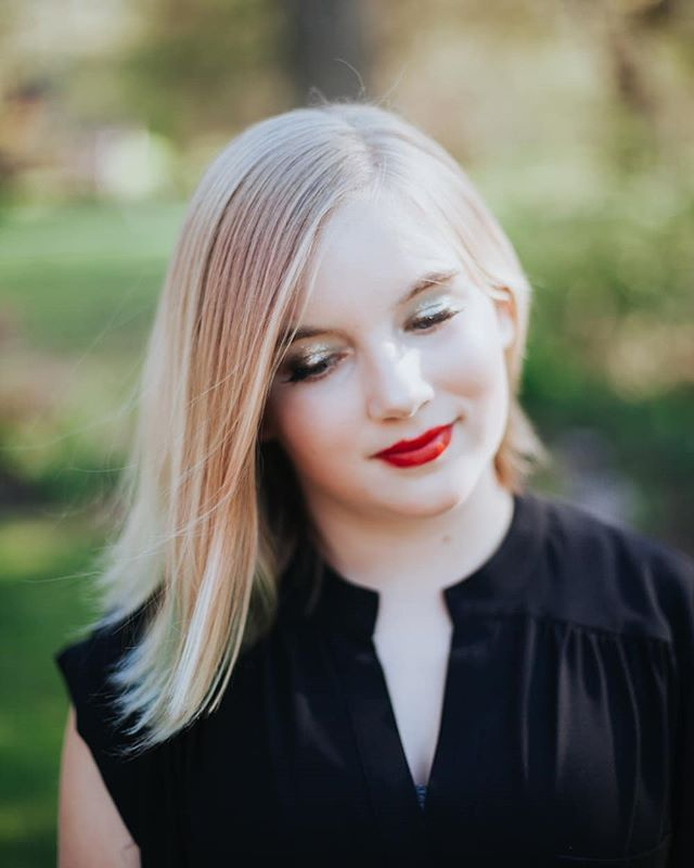 Spring's youthful beauty. . . . #portrait #beauty #spring #youth #redlipstick #blonde #gentle #canon #getoutside #justbreathe