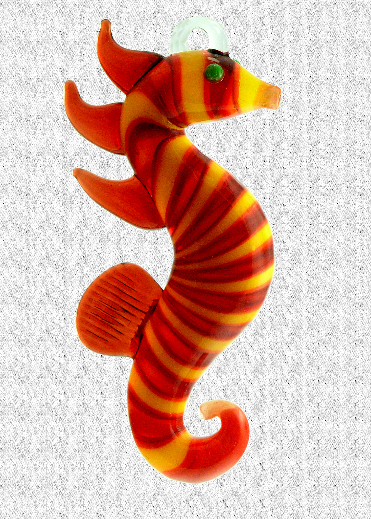 glass seahorse hanging ornament or suncatcher