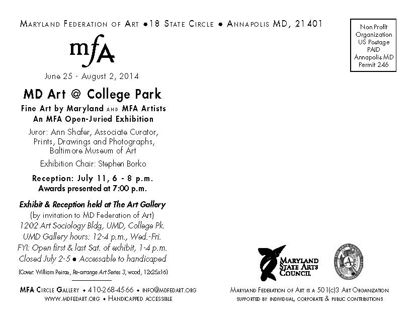 To view online gallery of work in this exhibition click    www.mdfedart.org