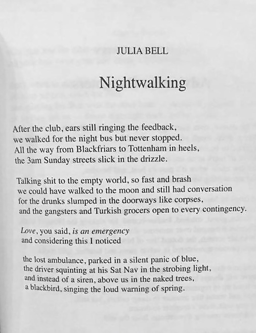Nightwalking - Runner up in Bridport Prize 2017
