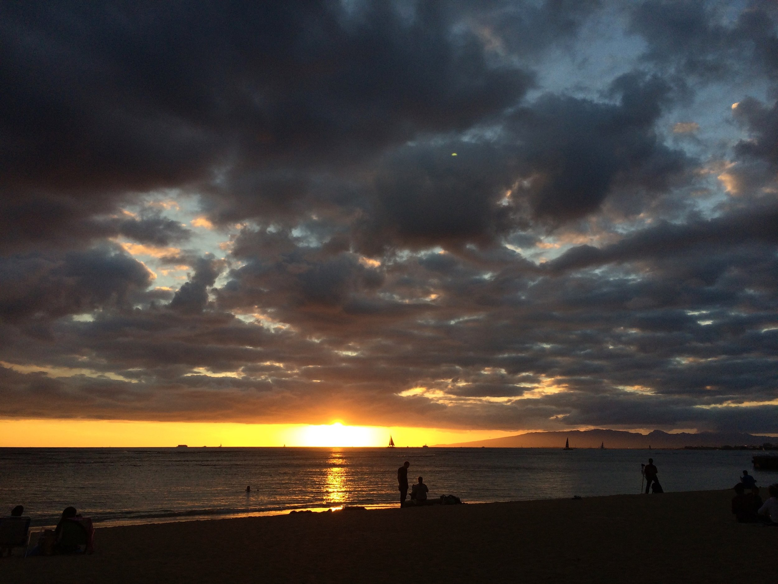 One of the many sunsets I got to enjoy on Kaimana beach while completing my PhD in Hawai'i