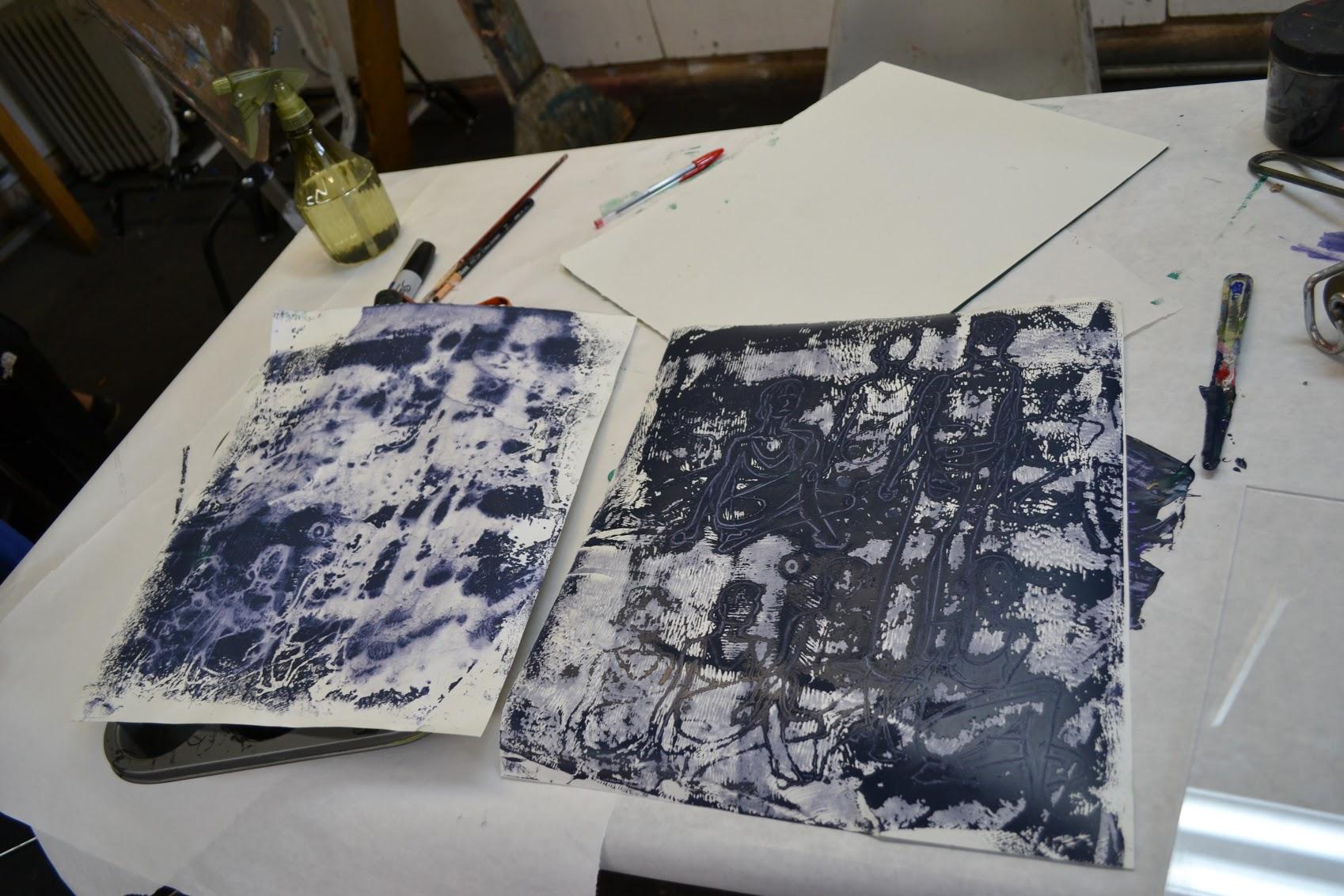 high school- experimental printmaking