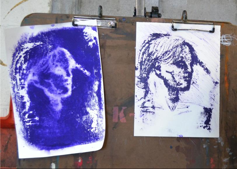 high school- experimental print making