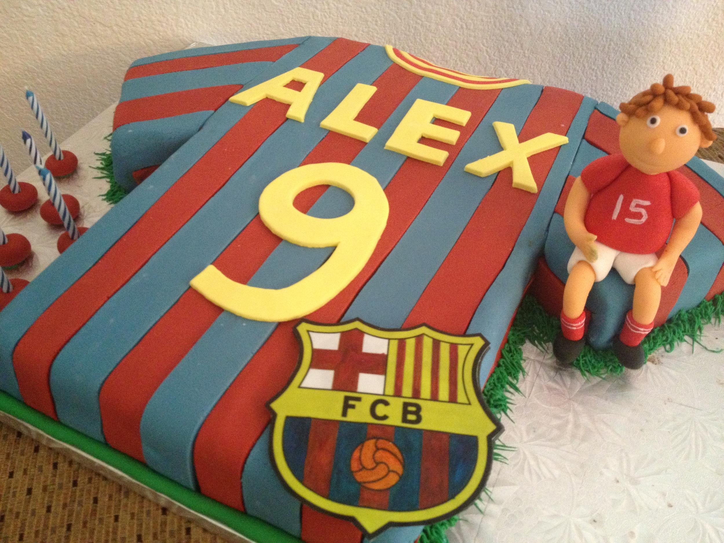 F C Barcelona Cake Beescuits