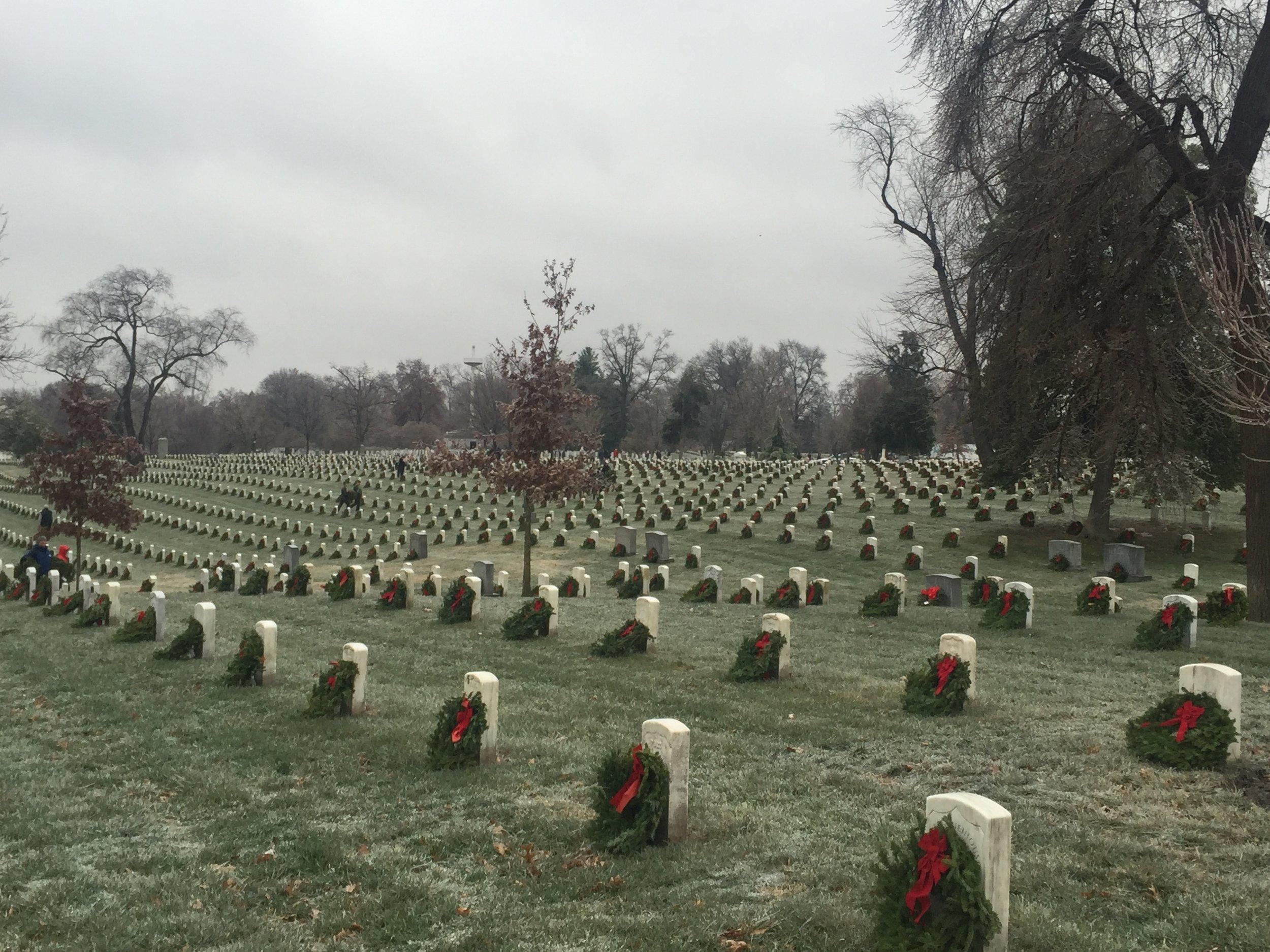 Arlington national cemetery  wreaths across america 2016