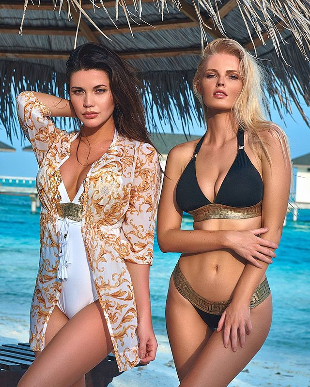 @tawnyjordan & @ziennasonne for @dolcessaswimwear in the #Maldives. H&M by @jaimemortonhawley 🏖