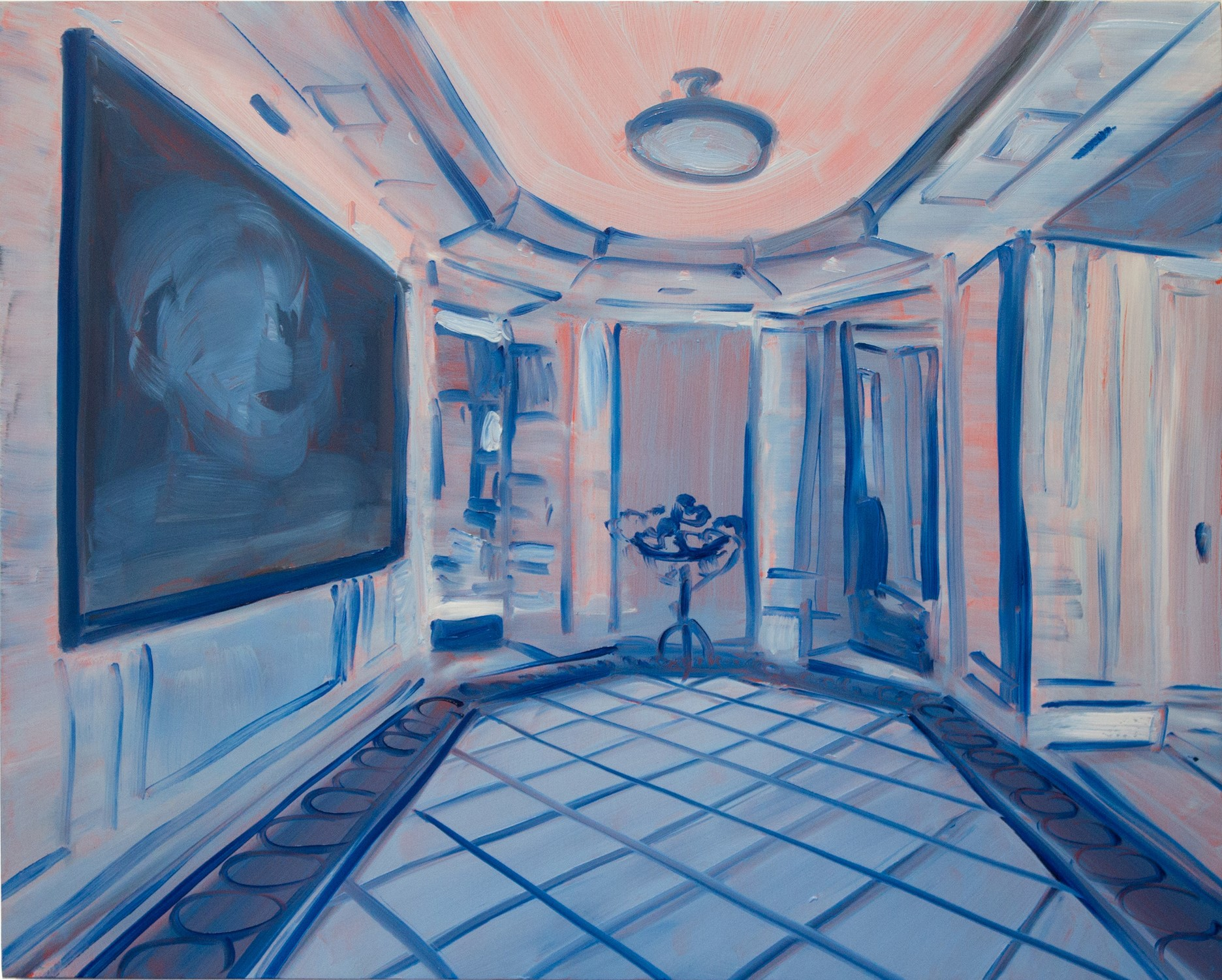Guy Ben-Ari, Interior Study, 2014 Oil on wood panel 16 x 20 inches