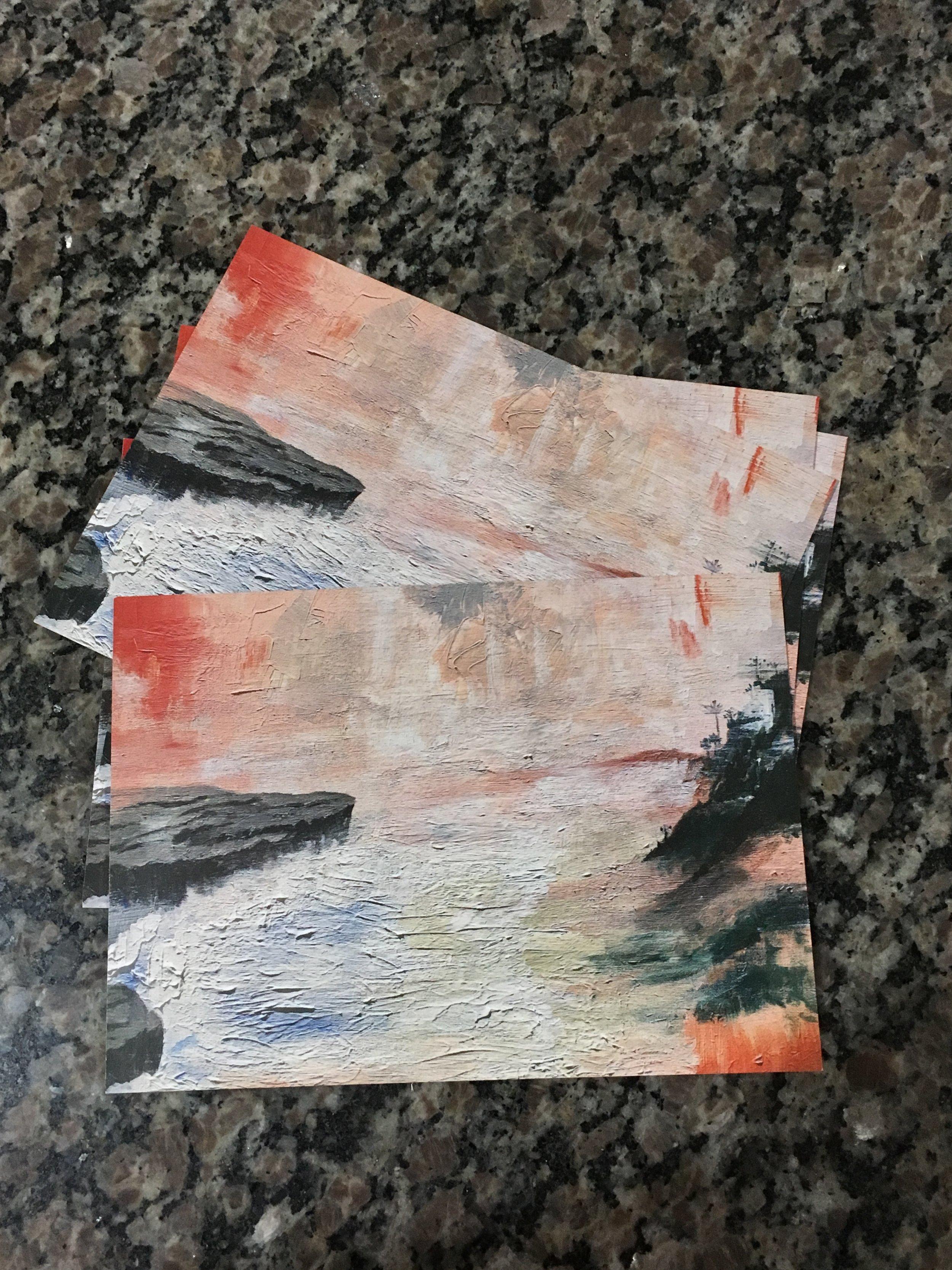 """Print: Coastal Cliffs. 5"""" x 7"""" - $20"""