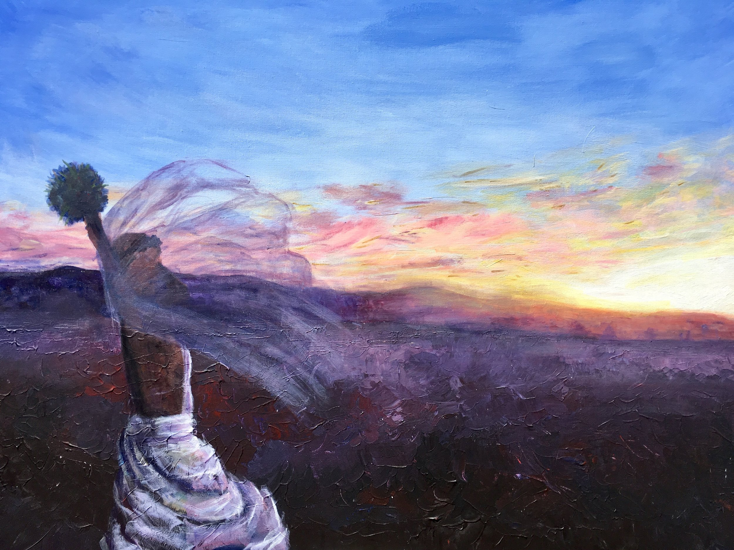 "Desert Bride. Acrylic on canvas. 40"" x 30"""
