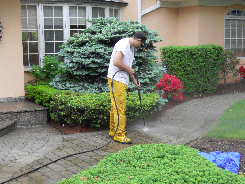 We will power wash your pavers and add instant curb appeal to your home!