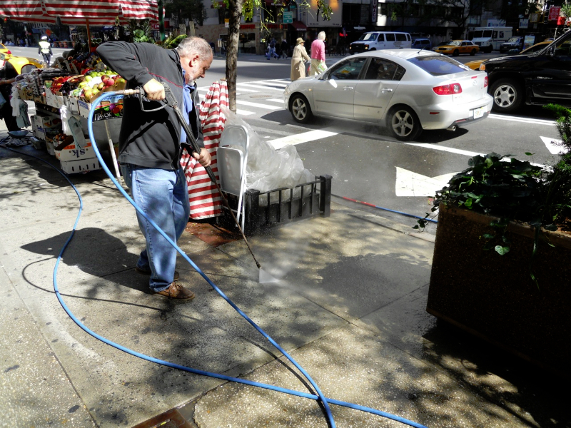 Is your sidewalk covered in gum and stains? We can clean that!