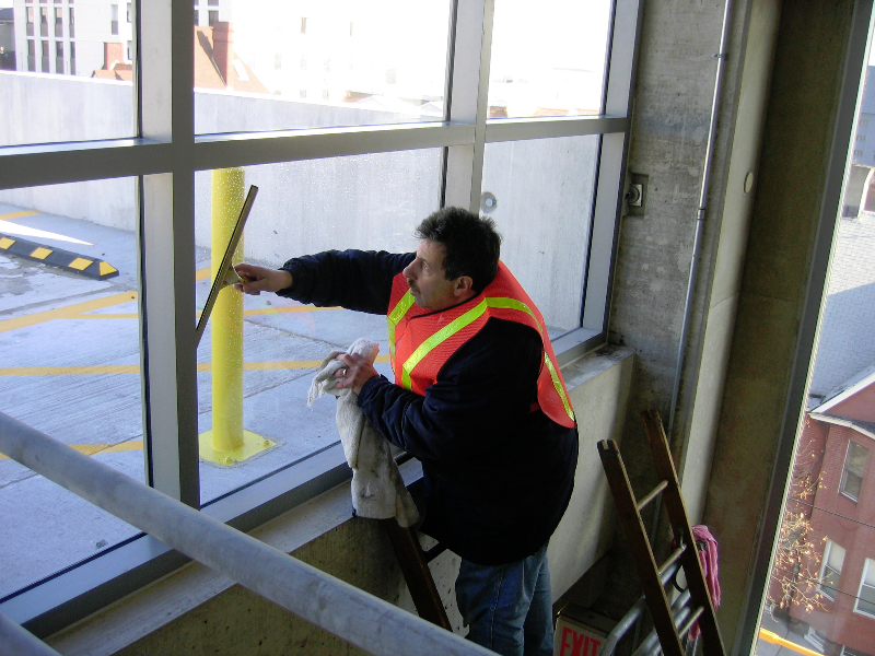 Window cleaning.  We specialize in hard to reach windows!