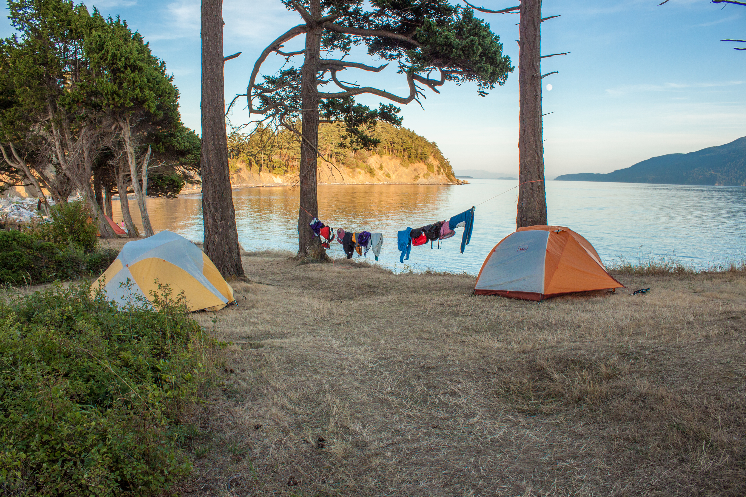 Our campsite on a bluff. We could not have asked for better weather.