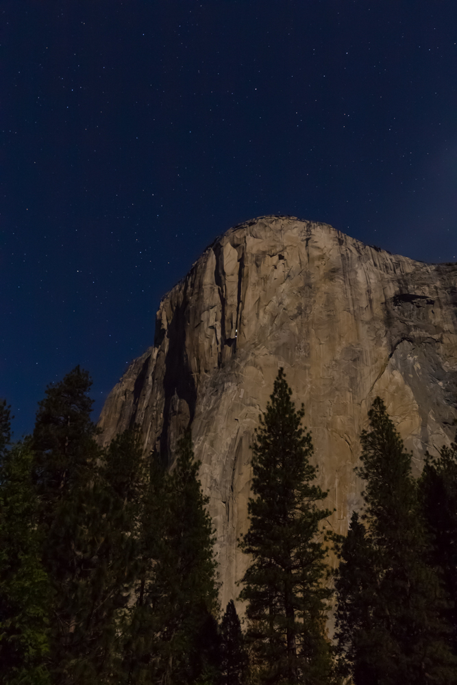 El Capitan. Can you see the headlamps of the climbers?