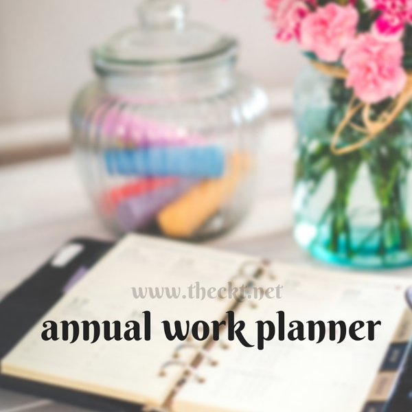 the cocoknot theori annual work planner