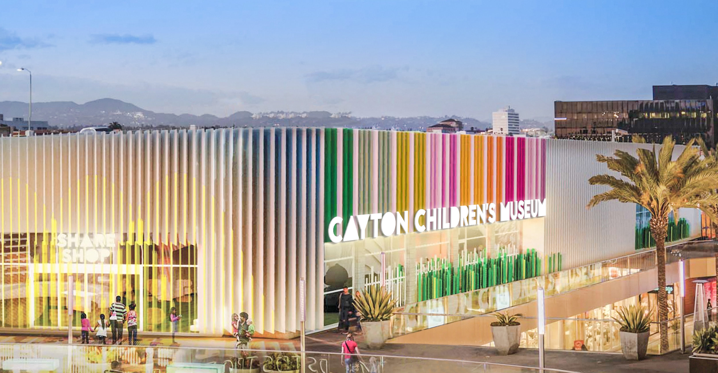 Rendering of the new Cayton Children's Museum at Santa Monica Place