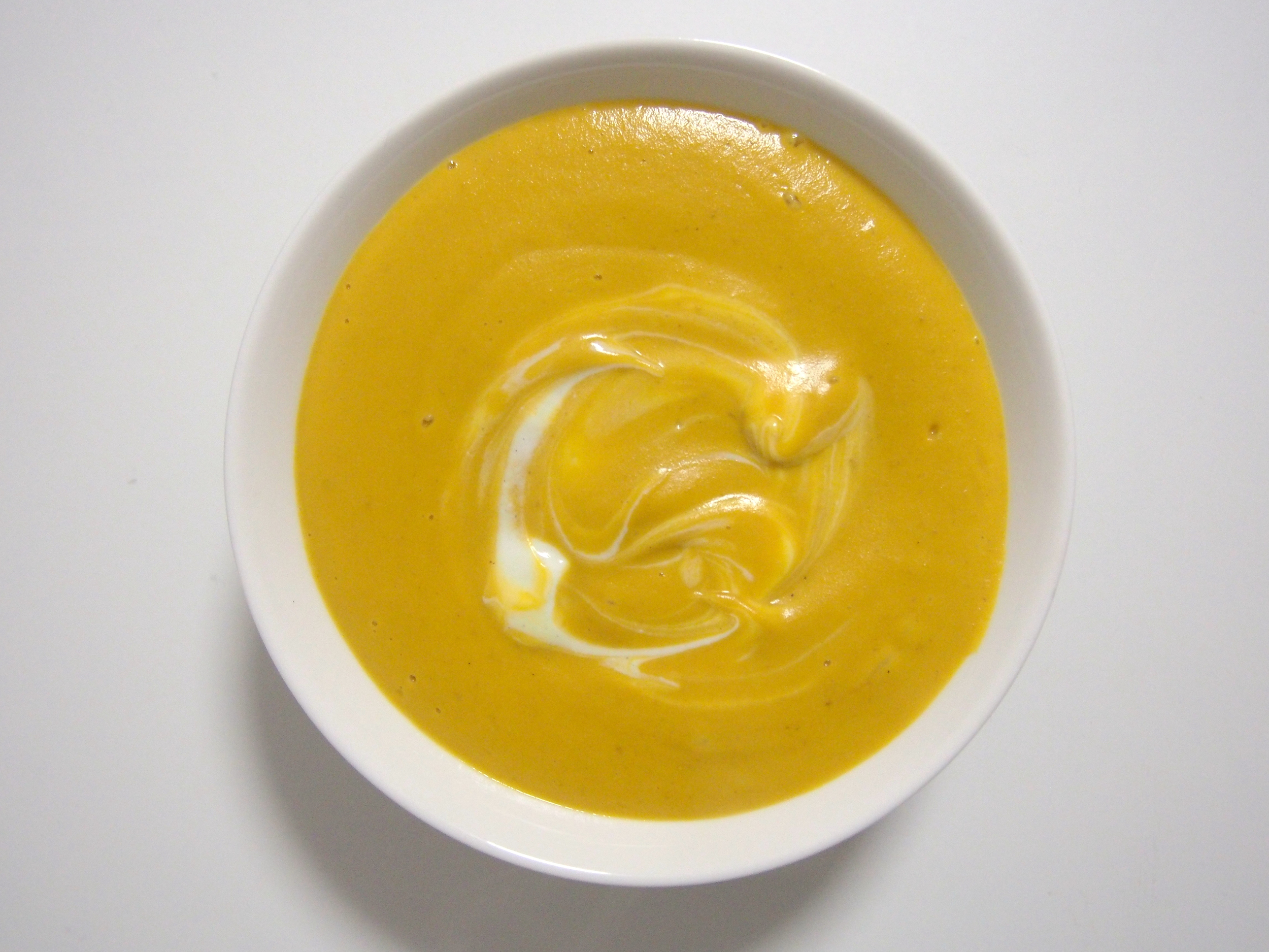 Voila! It's luxuriously thick and creamy - just how pumpkin soup should be!