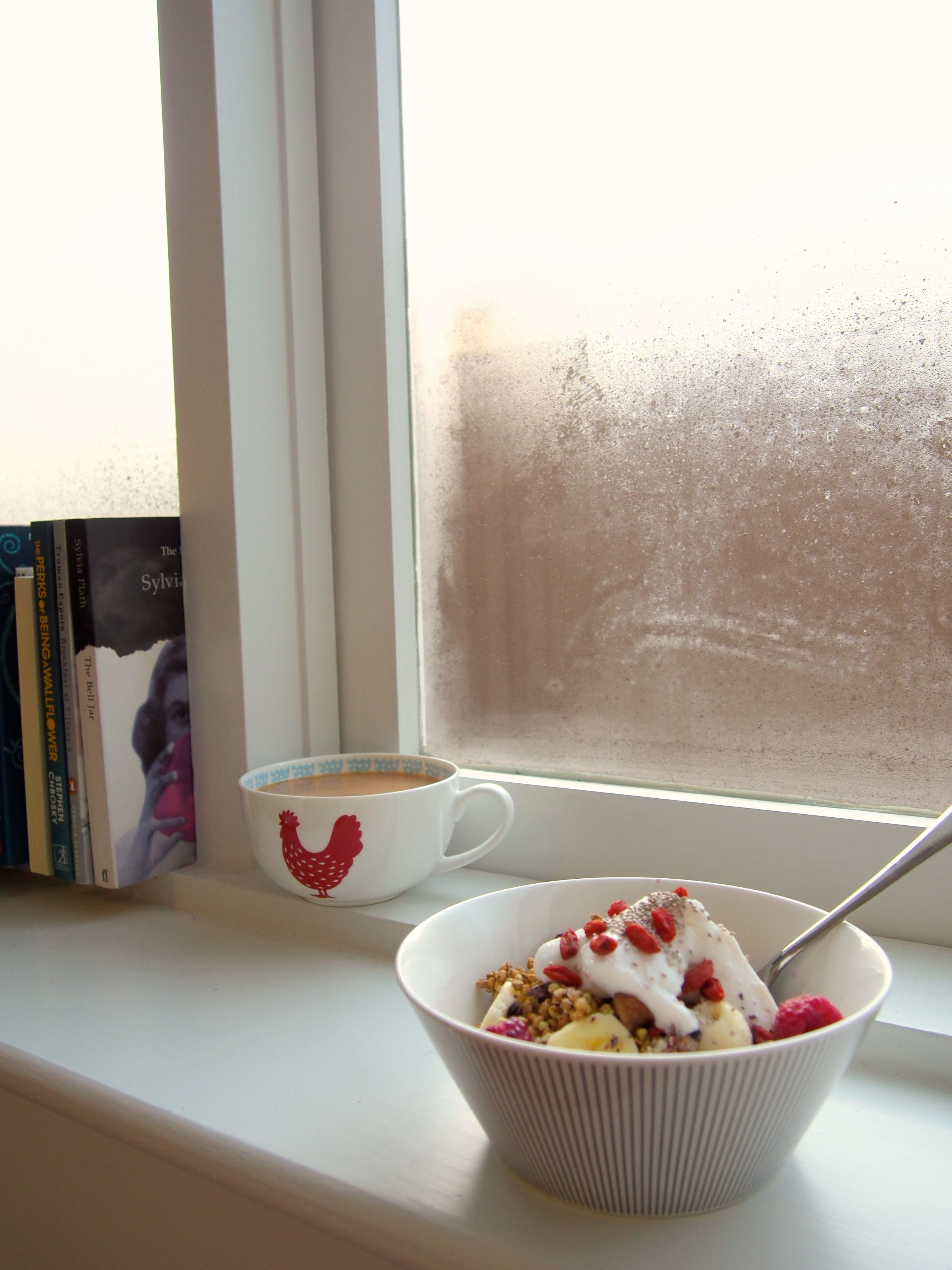 It's a beautiful morning today! Enjoy your porridge whilst sipping a cup of tea slowly in the mornings.