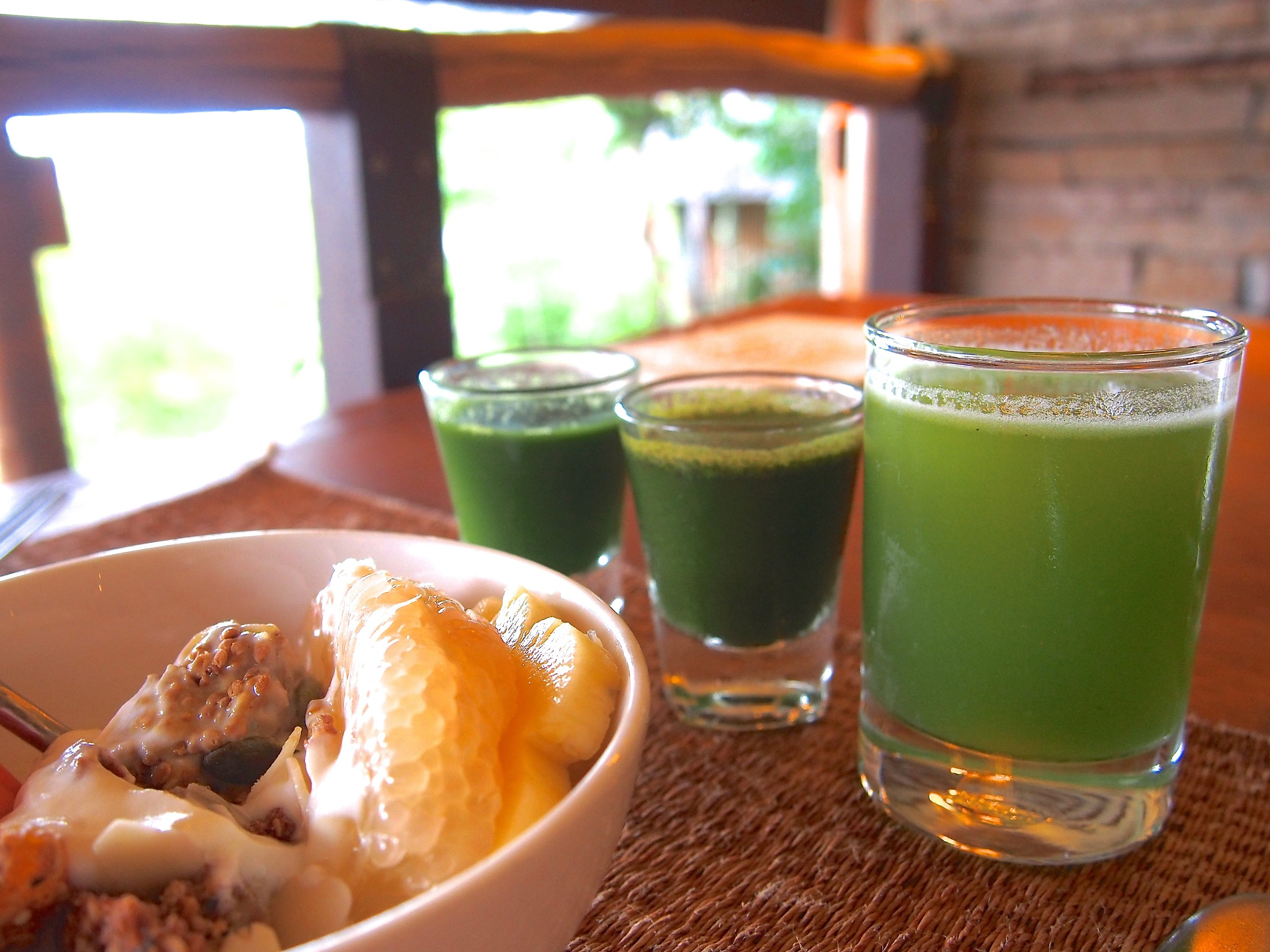 Lining up my superfood shots for the morning. I love how invigorating these mornings were!