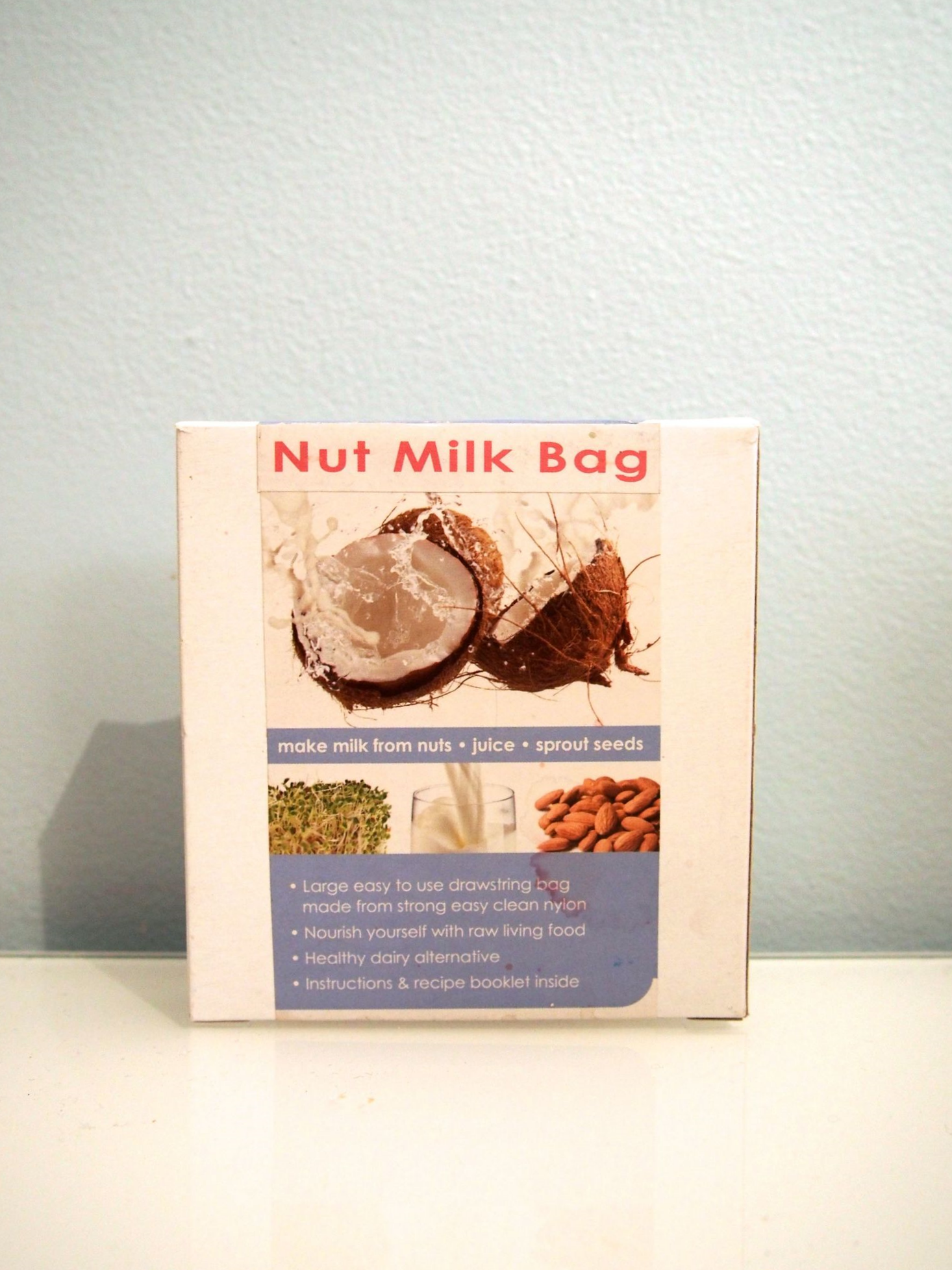 You can purchase these nut milk bags  online , or most large health food shops should stock these too.