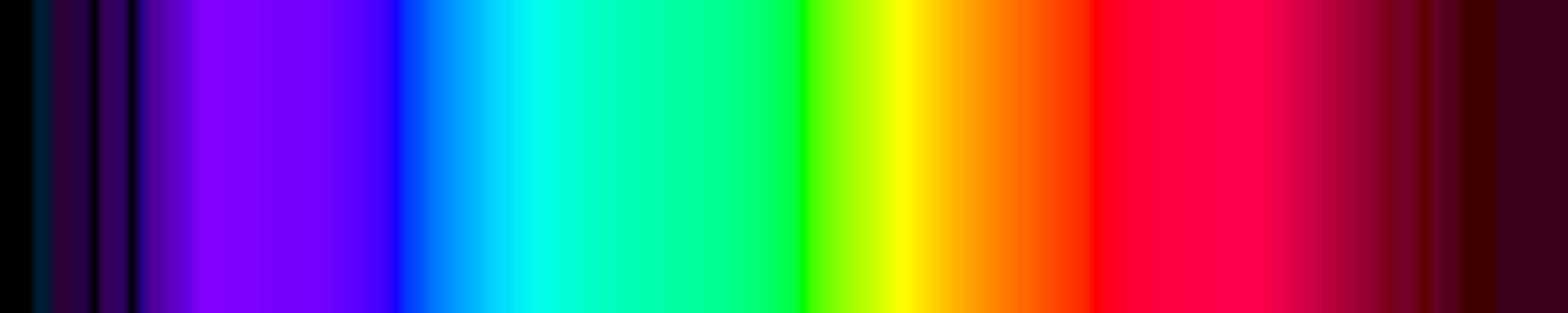 Color spectrum shown in RGB