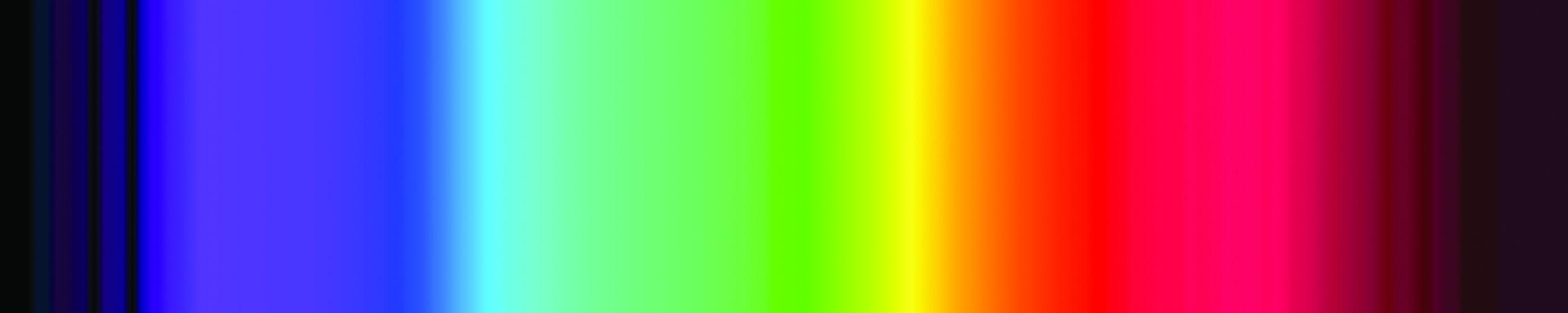Color spectrum shown in CMYK