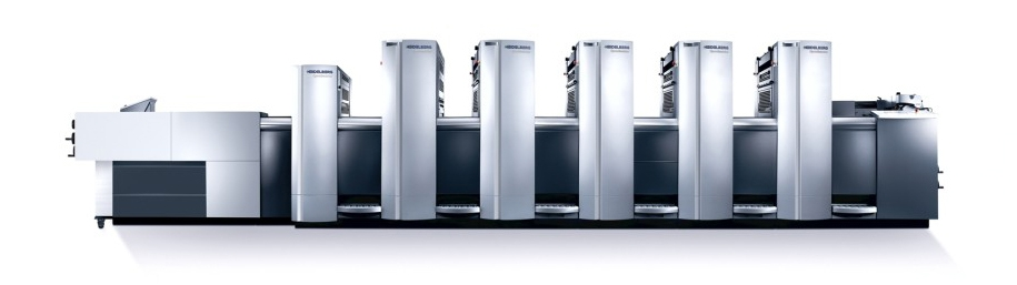 Offset Press - the kind of device your final product is printed on ( Image Source )