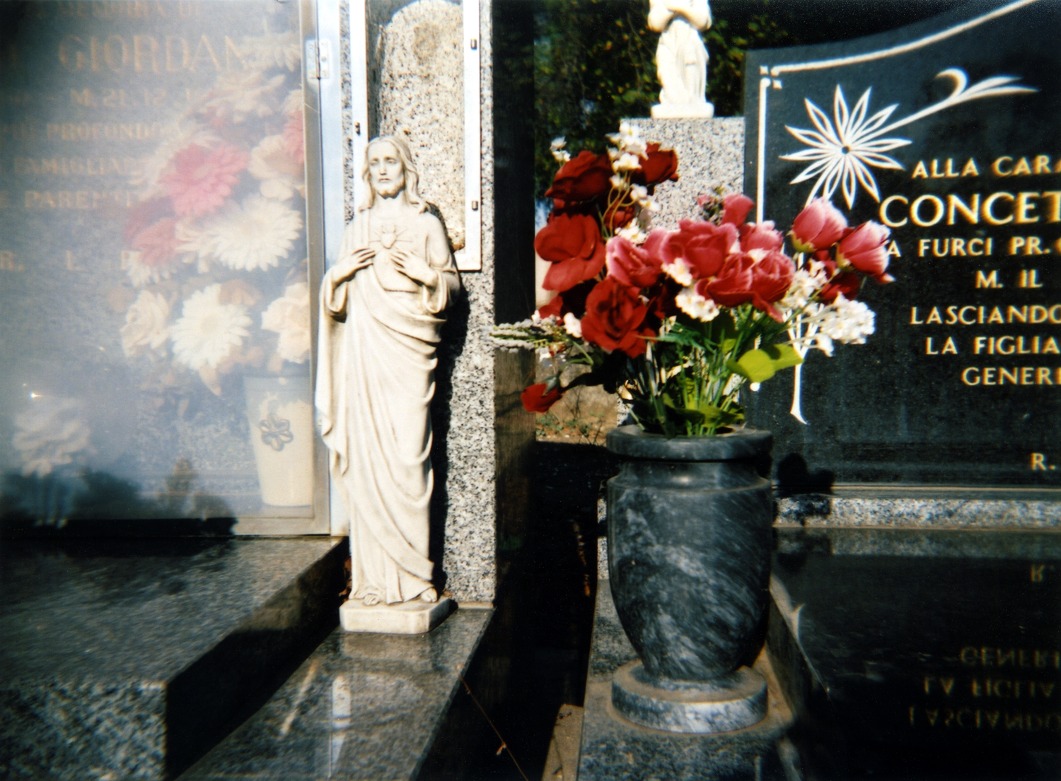 christ and flowers [melbourne general cemetery, parkville, victoria, australia, 2005]